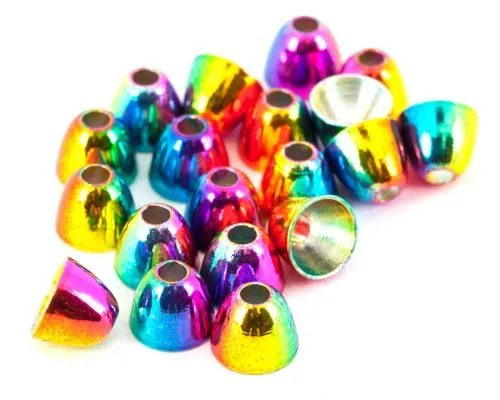 Anodised Rainbow Brass Cones