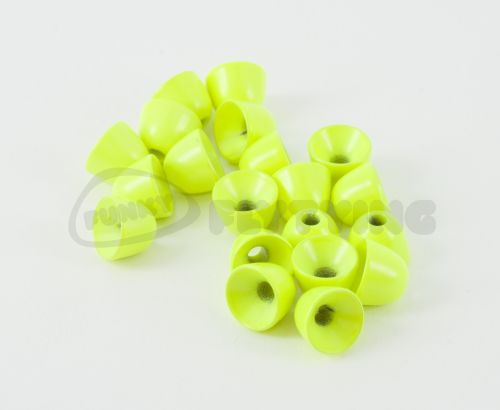 Brass Cones Painted Colours Fluo Chartreuse