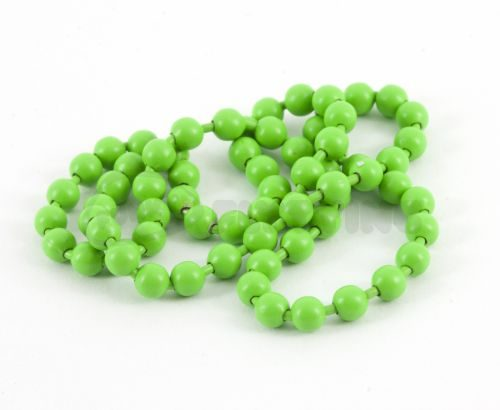 Hareline Fluoro Chain Bead Eyes Fluo Green