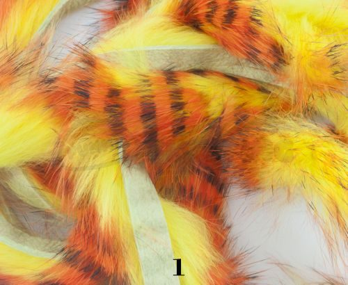 Hareline Magnum Cut Tiger Barred Zonkers