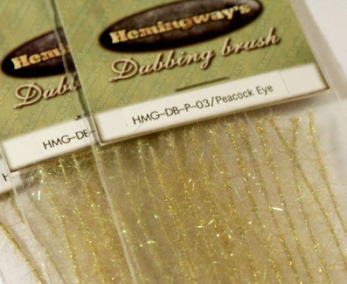 Hemingway's Peacock Dubbing Brushes