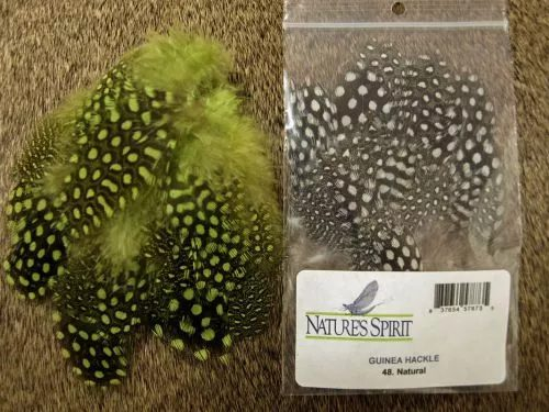 Nature's Spirit Dyed Guinea Hackle