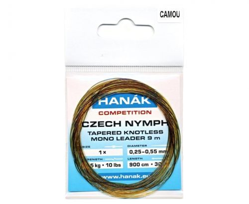 Hanak Camou Czech Nymph Knotless Mono-Leader