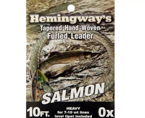 Hemingways Salmon Tapered Hand Woven Furled Leader