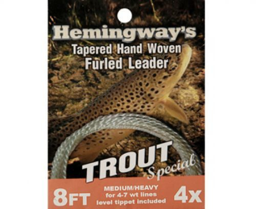 Hemingway's Trout Tapered Hand Woven Furled Leader