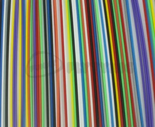 Outer Plastic Tubes 3mm Solid Colours