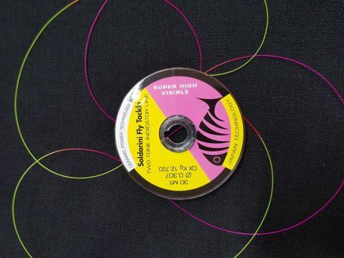 Soldarini HI VIZ Indicator Line Pink/Yellow 30M